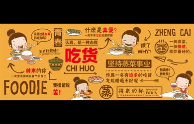 王记蒸菜餐饮品牌设计