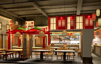 唐人湘餐饮空间设计